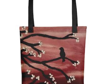 Crimson Blossom Tote bag