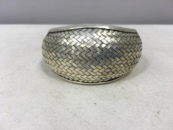 Bracelet Silver Cuff Woven Cuff Miao Hmong China Bracelet Handmade Silver Bracelet Woven Silver Unique Tribal