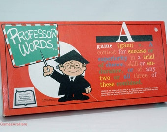 Professor Words Teaching Game from J.A. Kestal Inc. 1985 COMPLETE