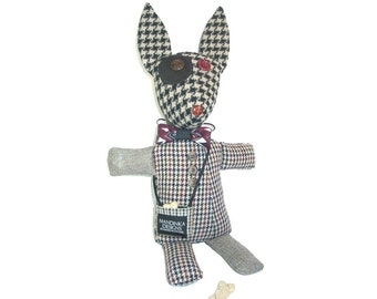 Ruby - The Mutts of Tweedville - Handmade Stuffed Animal Dog - Puppy Plushie - Child Gift - Adult Gift - Dog Lover Gift - Cute Doggo Friend