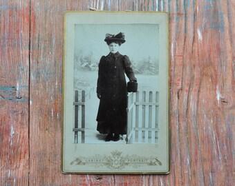 Antique Cabinet card, Antique Photo, Cabinet Portrait.