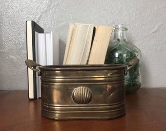 Small Vintage Brass Planter