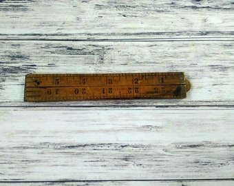 Wooden Folding Ruler, Stanley Warranted Folding Ruler, No 61A, 24 Inch Wooden Ruler