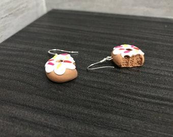 Textured doughnut earrings