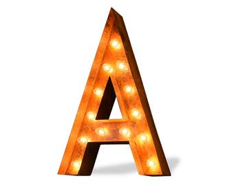 Iconics Marquee Light: Letter A
