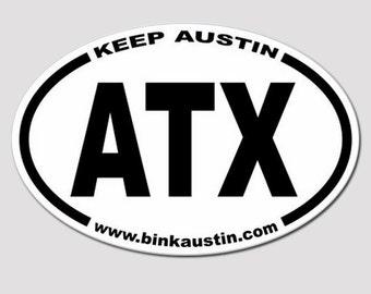 CLOSE OUT!!**ATX - Keep Austin Bumper Sticker