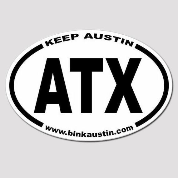 Close outatx keep austin bumper sticker