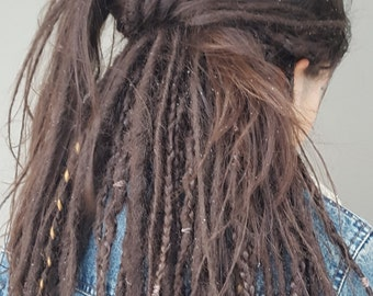 35 Double-Ended Synthetic Dreadlocks