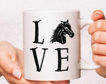Love Horse Riding Racing Coffee Mug, Horse Coffee Mugs, Horse Mug, Horse Cup, Mugs For Horse Lover, Horse Lover Mug, Horse Mugs Gifts
