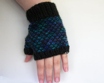 Knitting Pattern: Dragon Scale Gloves Knit Fingerless Gloves Pattern