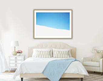 Bedroom Wall Art, Coastal Wall Decor, Beach Decor, Romantic Wall Art, Blue and White Art, Art for Bedroom, Abstract Art