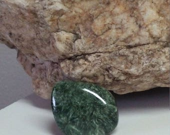 Natural Seraphinite Designer Cabochons