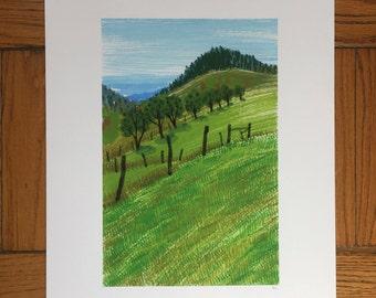 West Virginia Landscape, 13x19 and 8.5x11, Art Print