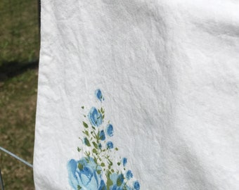 Vintage Floral Full Pillowcase