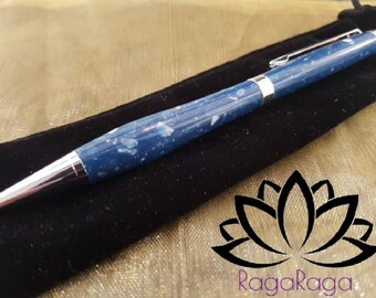 Hand turned corian and chrome pen