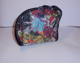 SALE Patchwork clutch, cosmetic bag, pencil case, wallet,purse,pouch