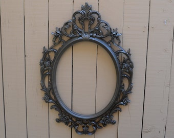 Bronze Baroque Oval Ornate Frame-Photo prop- Custom painted to your choice of color-large frame, photo booth, engagement shoot, baby photo