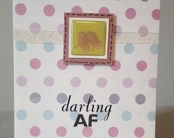 Darling AF Handmade Baby Card