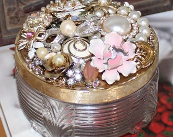 Pretty Bejeweled, Deco Era, Jewelry Box, One of a Kind