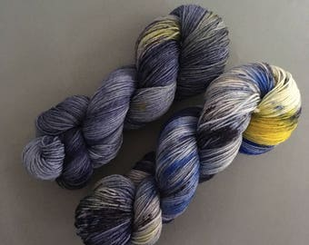 """Hand dyed socks wool, colour: """"Full Moon"""", 100gr/4ply hand-dyed yarn"""
