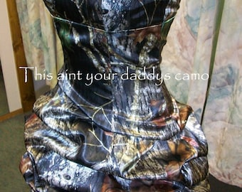 Custom Made CAMO Prom Homecoming Pick Up Bubble Skirt Short Dress 'Bobbi'