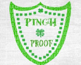 St. Patricks Day Svg Cut File - St. Pattys Day Svg Cut File - Pinch Proof Svg Cut File - Boys St. Patricks Day Svg Cut File - 4 Leaf Clover