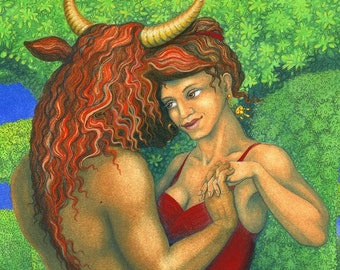 Dancing with the Minotaur - art print