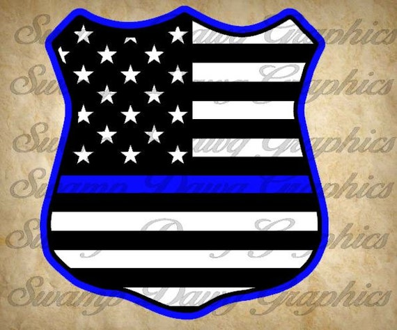 Blue Lives Matter Svg Police Badge Svg Silhouette Cricut