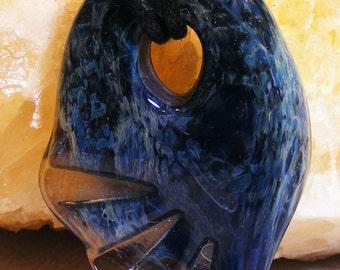 Handmade Glass Borosilicate Turtle Fin Pendant