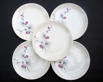Canonsburg Steubenville  Wild Clover Pattern - Hard to Find Size - Salad Plates - 1960s - Set of 4 (2 sets available)
