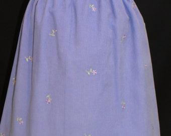 Girls Winter Skirt, Gathered Waist, 3 Sizes Available, Embroidered Girls Skirt