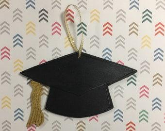 Graduation cap ornaments