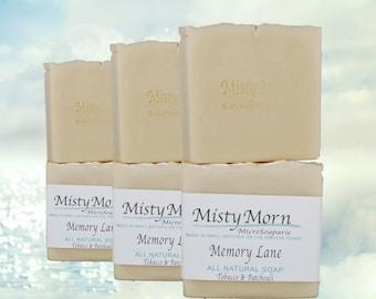 ALL NATURAL Memory Lane Soap - Tobacco & Patchouli