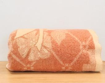 Vintage Orr Company Brown and Tan 100% Wool Blanket