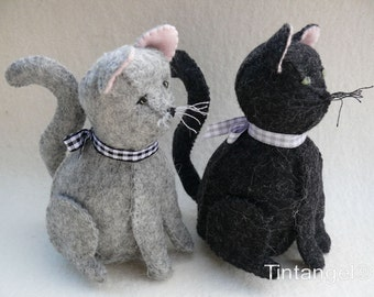 Figaro and Feline, two cats - PDF pattern - Download