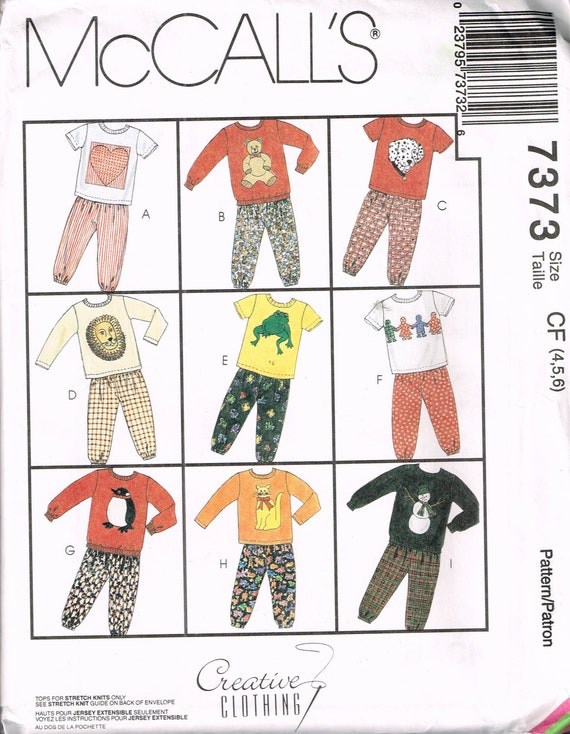 Size 4-6 Girl or Boy Applique T Shirt Sewing Pattern - Pull On Pants ...