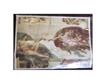 The Creation Of Adam, Michelangelo, Vatican, Sistine Chapel, Vintage