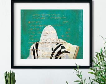 Man in prayer **unframed print**