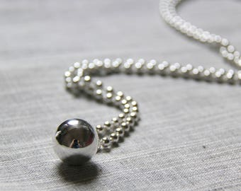 990 Fine silver ball necklace