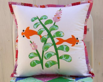 Pond life cushion set PDF pattern