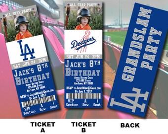LA Dodgers Ticket Invitation