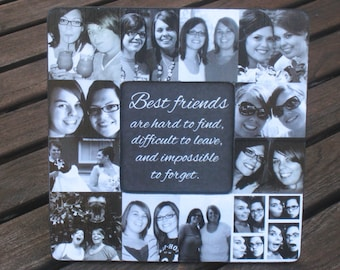 best friends collage frame personalized sister gift unique