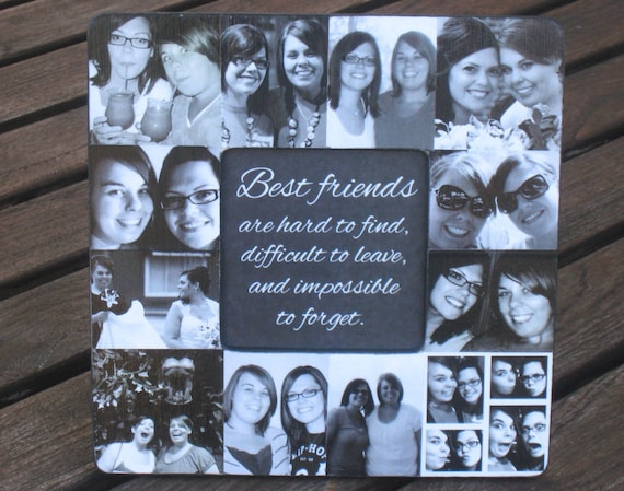 Wedding Gift Ideas For Close Friends: Best Friends Collage Picture Frame Personalized Maid Of