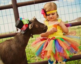 Rainbow Tutu by Atutudes | Baby Tutu | Birthday Tutu | Tutus for Children | Tutu Skirt | Toddler Tutu | Girls 1st Birthday Tutu