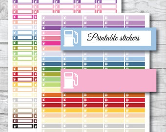 PRINTABLE, Gas planner stickers, Gas printable stickers, Gas stickers, Gas tracker, Gas Pump sticker, Gas station reminder, ST-026