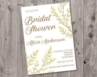 Branches Bridal Shower Invitation