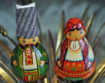 Russian Wooden Figurines Vintage