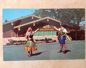 Italian Swiss Colony Winery Scene 1960 Postcard Free Shipping in the USA