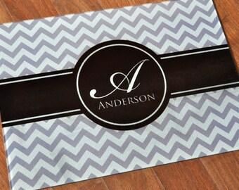 Personalized Cutting Board Chevron Cutting Board 11x15 Glass Cutting Board