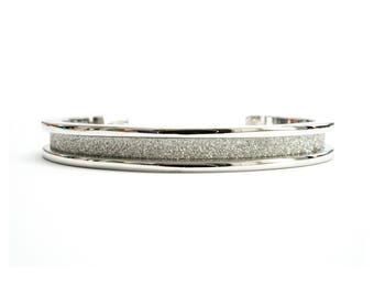Hair Tie Bracelet, Hair Tie Bracelet Holder - Glitz Design Silver